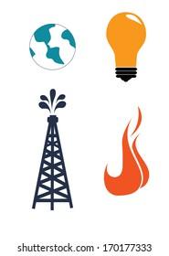 oil industry over white   background vector illustration