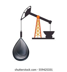oil industry plant isolated icon
