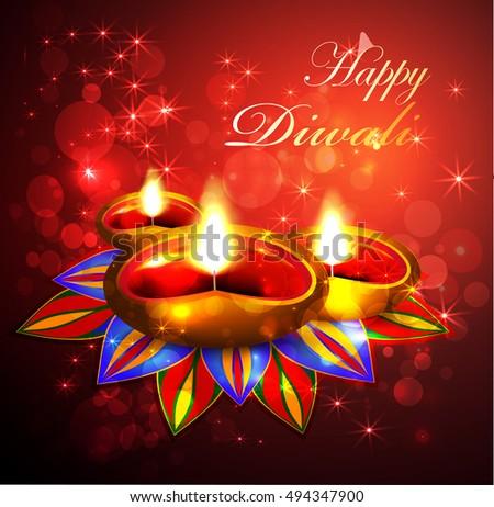 Oil lamp diwali greeting card stock vector royalty free 494347900 oil lamp diwali greeting card m4hsunfo
