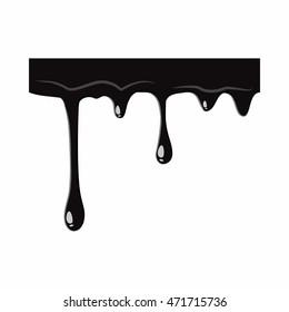 Oil leaking isolated on white background. Black oil leaking vector illustration