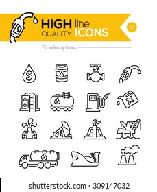 Oil  Line Icons Series