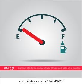 oil meter vector icon