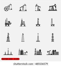 Oil Offshore Platform vector Illustration