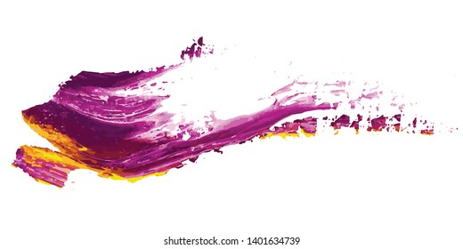 Oil paint abstarct in pink and yellow