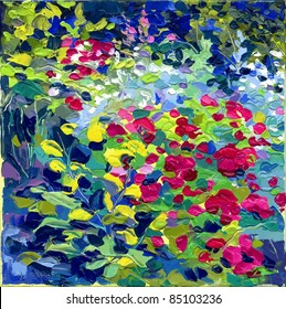 oil painting vector illustration. I, the Artist, owns the copyright