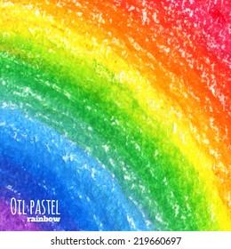 Oil pastel rainbow background