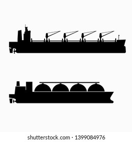 Oil or petroleum tanker and gas carrier