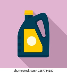 Oil plastic canister icon. Flat illustration of oil plastic canister vector icon for web design