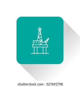 Oil platform icon