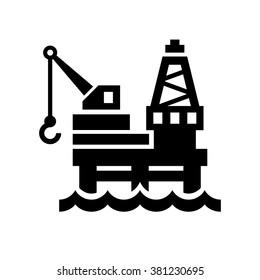 Oil Platform Icon on White Background. Vector illustration