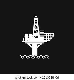 Oil platform iconfuel production logo, illustration, vector sign symbol for design