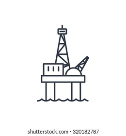 Oil platform outline icon