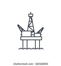 Oil platform outline icon
