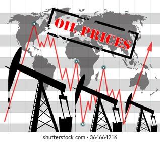 Oil price  graph illustration