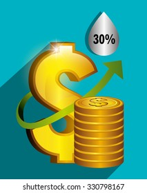 Oil prices and industry graphic design, vector illustration