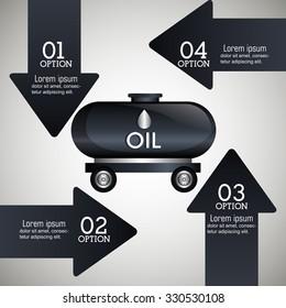 Oil prices infographic design, vector illustration eps10.