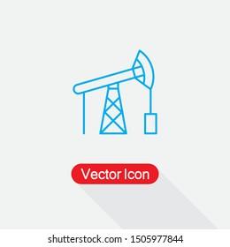 Oil Pump Icon, Oil Pump Logo Vector Illustration Eps10