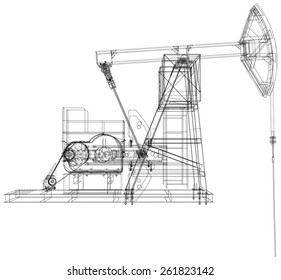 Pump Jack Stock Illustrations, Images & Vectors | Shutterstock Wellhead Pumpjack Schematic Diagram on