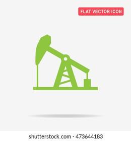 Oil pump jack icon. Vector concept illustration for design.