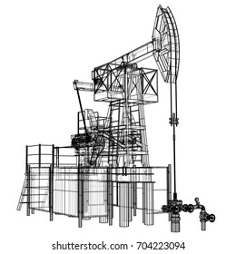 Gas Well Images, Stock Photos & Vectors | Shutterstock Wellhead Pumpjack Schematic Diagram on