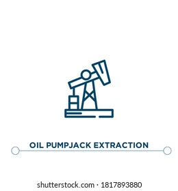 oil pumpjack extraction outline vector icon. simple element illustration. oil pumpjack extraction outline icon from editable industry concept. can be used for web and mobile