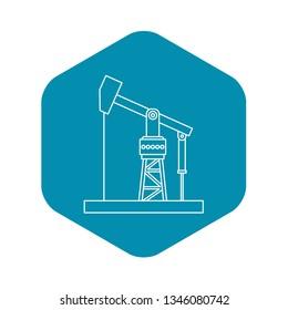 Oil pumpjack icon. Outline illustration of oil pumpjack vector icon for webicon. Outline illustration of vector icon for web
