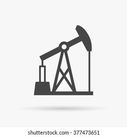 Oil pumpjack icon. Oil pump symbol. Fossil fuel oil and gas industry. Vector illustration.