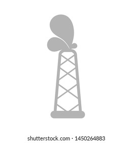 oil refinery icon, Vector isolated illustration