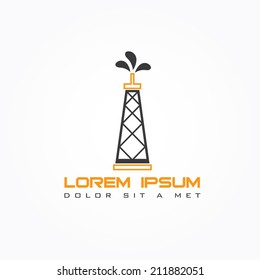 oil rig abstract vector design template