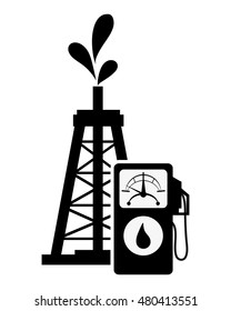 oil rig and fuel dispenser icon