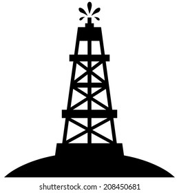 Oil Rig Gusher