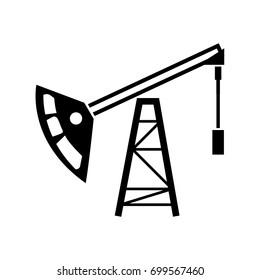 Oil rig icon .