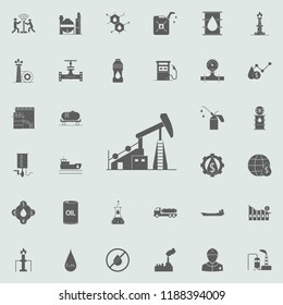 oil rig icon. Oil icons universal set for web and mobile