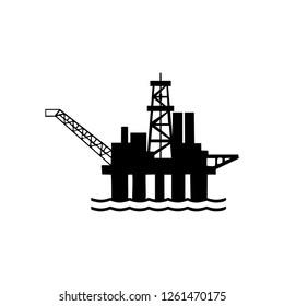 Oil Rig Icon, Oil platform icon, Oil rig icon vector