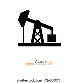 oil rig icon. vector illustration.