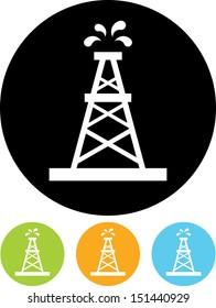 Oil rig vector icon