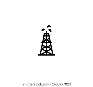 Oil rig vector isolated flat illustration. Oil rig icon