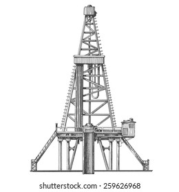 oil rig vector logo design template. petroleum or industry icon.