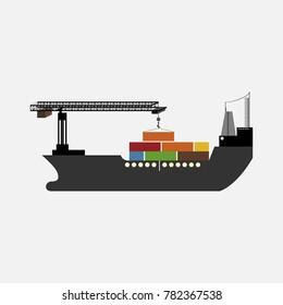 Oil ship vector illustration