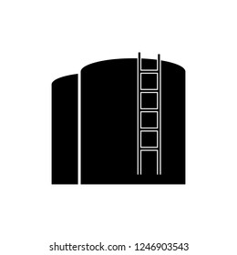 Oil storage tank.Oil single icon vector symbol stock illustration web.