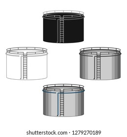 Oil storage tank.Oil single icon in cartoon style vector symbol stock illustration web.