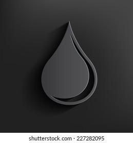 Oil symbol on black background,clean vector