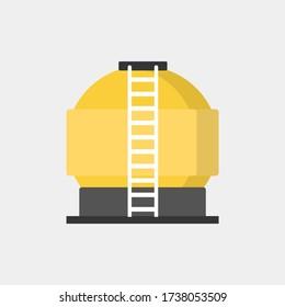 Oil tank in simple modern flat  style vector design for your design work, presentation, website.