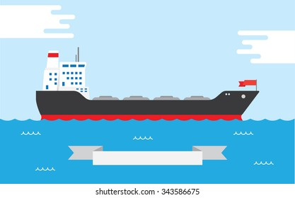 Oil Tanker, illustration