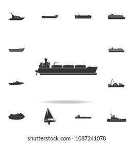 Oil tanker ship icon. Detailed set of water transport icons. Premium graphic design. One of the collection icons for websites, web design, mobile app on white background