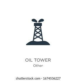 Oil tower icon vector. Trendy flat oil tower icon from other collection isolated on white background. Vector illustration can be used for web and mobile graphic design, logo, eps10