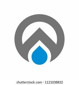 oil, water drop logo design template vector illustration