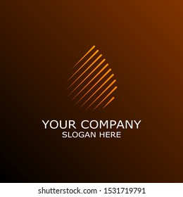 Oil or Water Droplet from Lines Combination. Simple Elegant Logo Vector. Oil and Environmental Industry Brand.