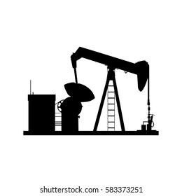 Oil well isolated vector