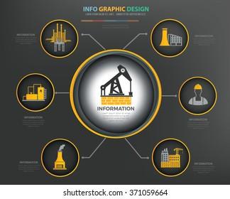 Oil,industry Infographics Design,clean vector